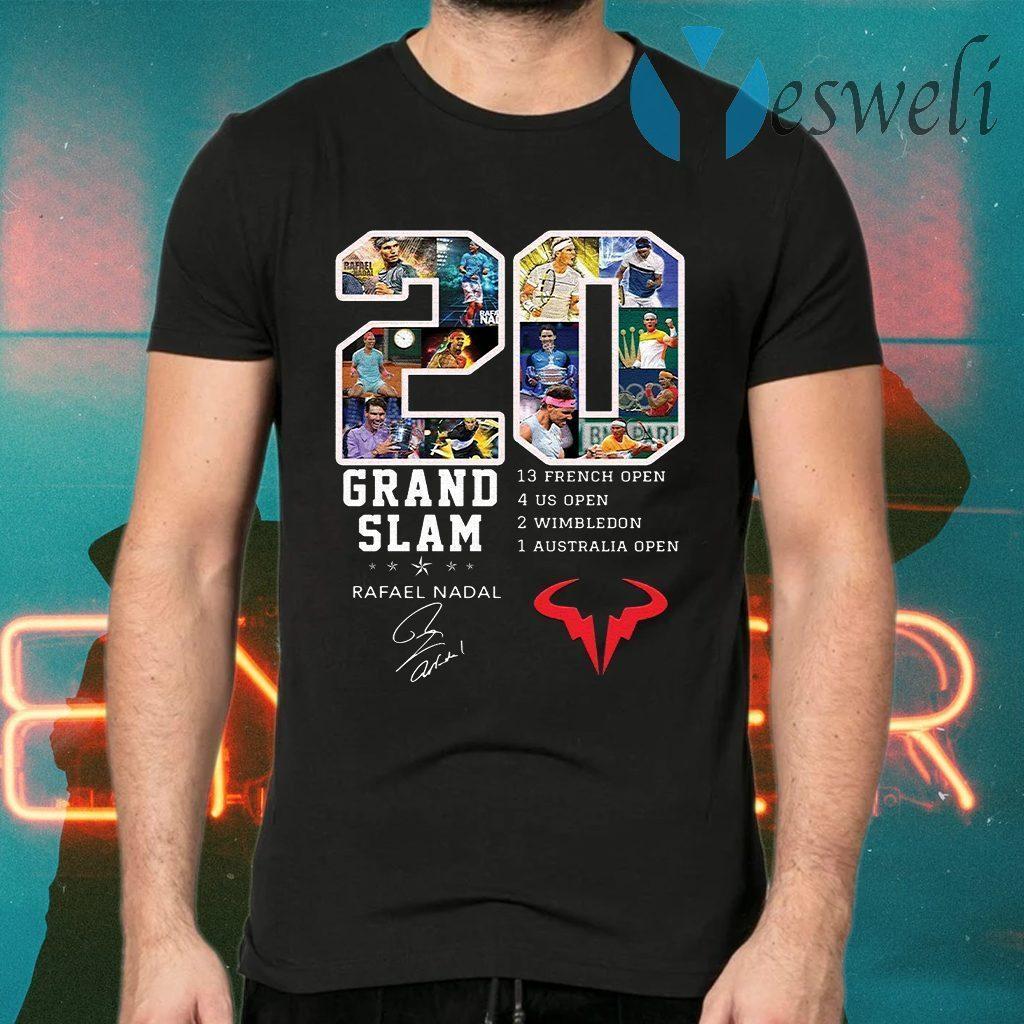 Champion 20 Grand Slam Rafael Nadal signature T-Shirts