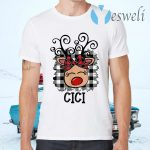 CiCiReindeer Red Plaid Christmas Pajama Family T-Shirts
