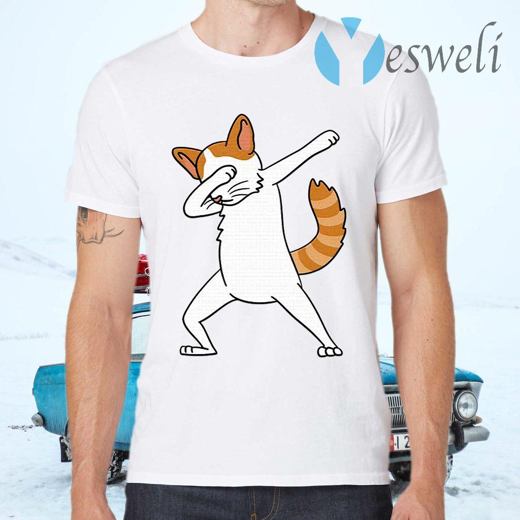 Dabbing Turkish Van Cat Dab Dance Funny Pet Gift T-Shirts