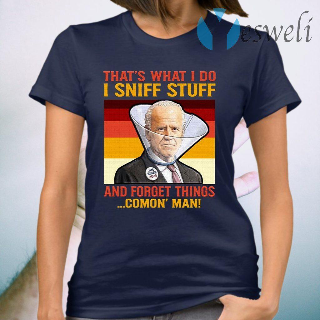Dementia Joe Biden Sniffing Hair T-Shirt