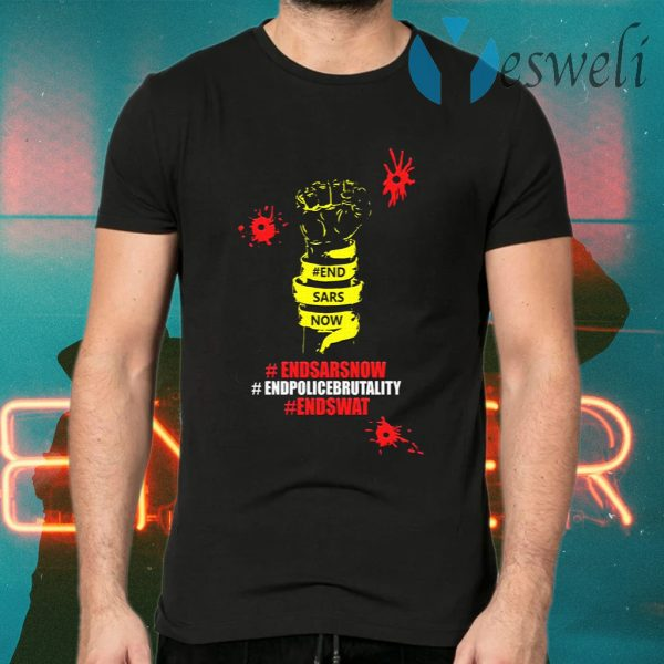 End Sars Now Shirt End Police Brutality End Swat T-Shirts