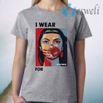 Funny MMIWG Indigenous Women I wear red for my Sisters T-Shirt
