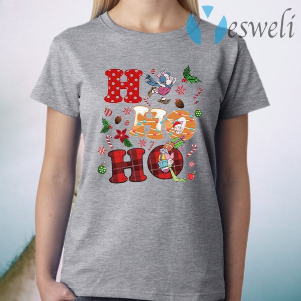 HO HO HO Piglet Disney Vacation Snowmen Christmas T-Shirt