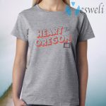 Heart For Oregon Charty T-Shirt