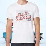 Heart For Oregon Charty T-Shirts