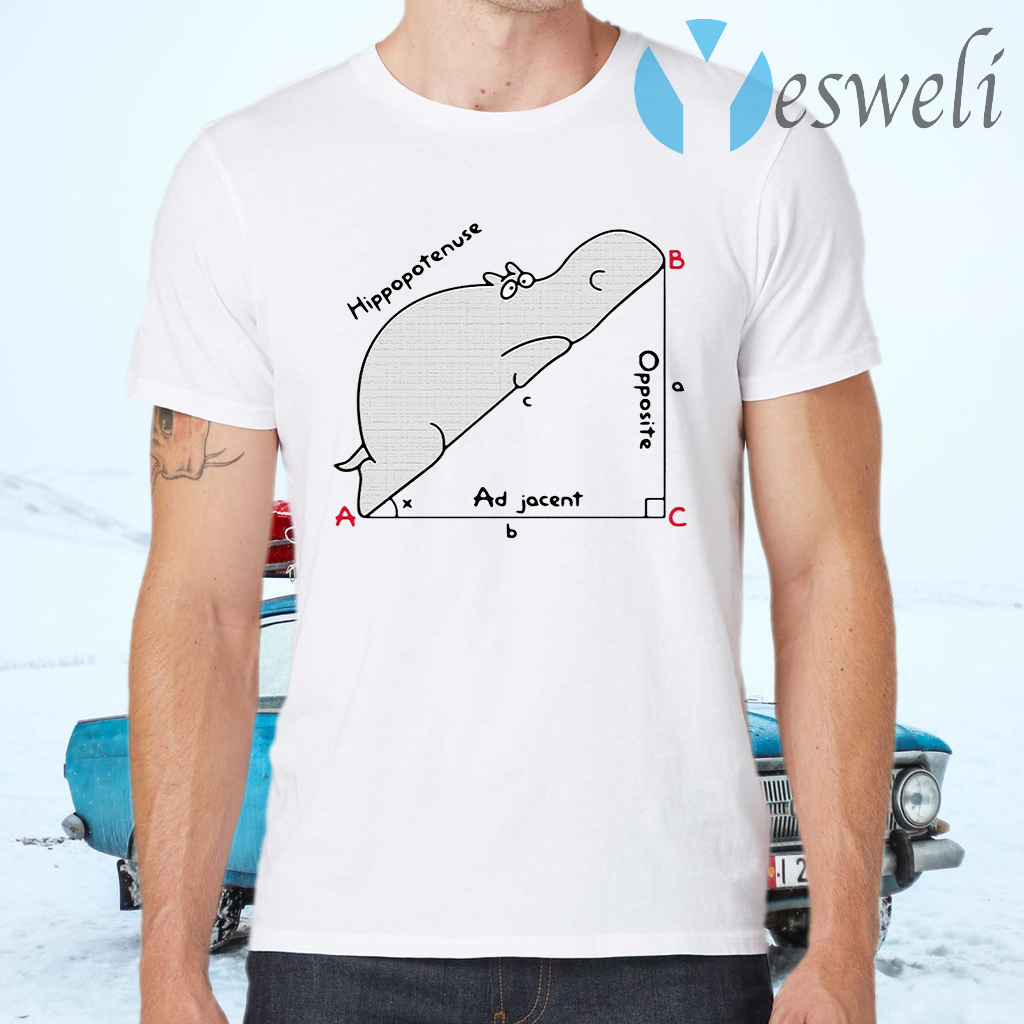 Hippopotenuse adjacent opposite T-Shirts