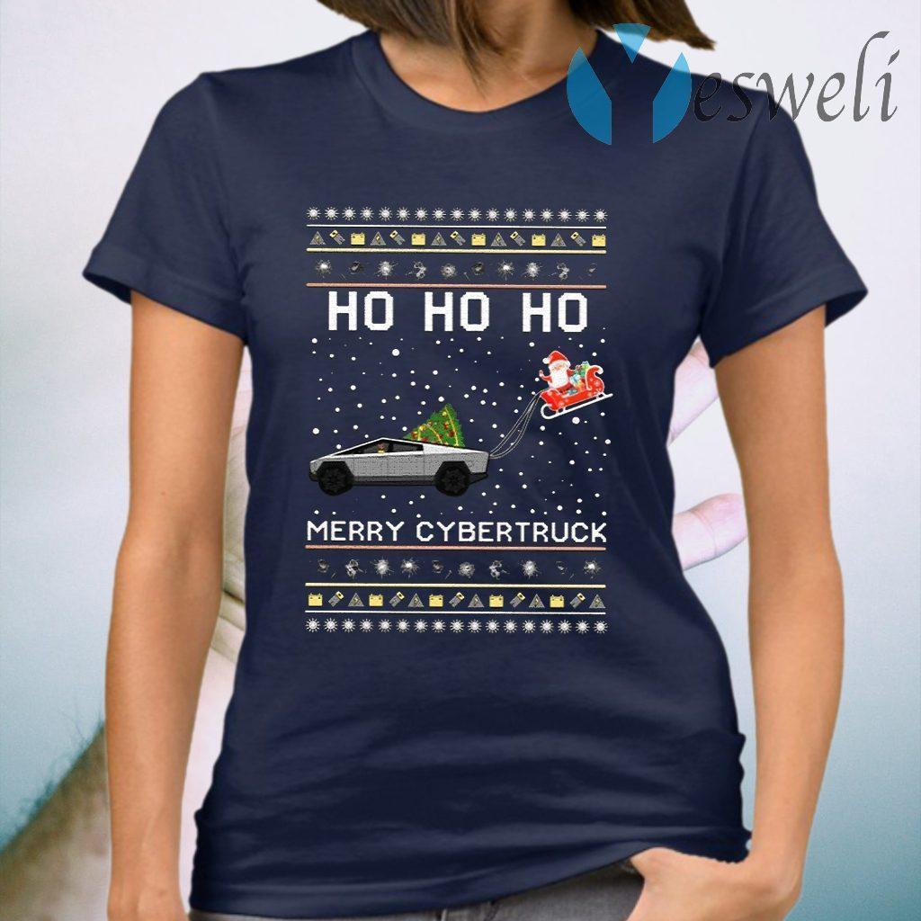 Ho Ho Ho Merry Cybertruck Christmas T-Shirt
