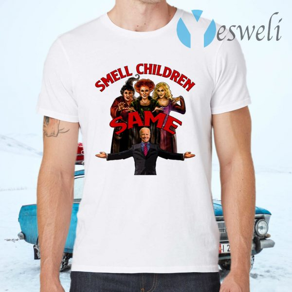 Hocus Pocus Joe Biden Smell Children T-Shirts