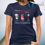 How A Cheer Mom Tells Time At A Cheer Competition Coffee Coca Wine T-Shirt
