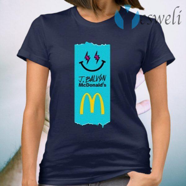 Jbalvin Merch J Balvin x McDonald's Fries T-Shirt