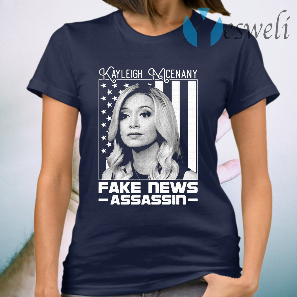 Kayleigh McEnany fake News Assassin American flag T-Shirt