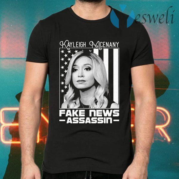 Kayleigh McEnany fake News Assassin American flag T-Shirts