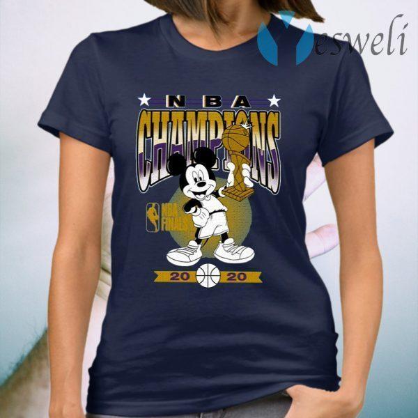Lakers 2020 NBA Champions Mickey Trophy T-Shirt