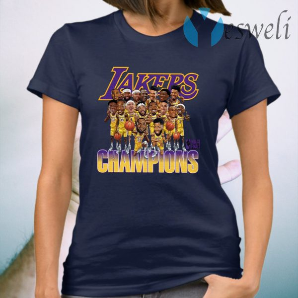 Lakers Caricature 2020 Championship T-Shirt