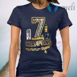 Los Angeles Dodgers 7 time world series Champions 1955 2020 T-Shirt
