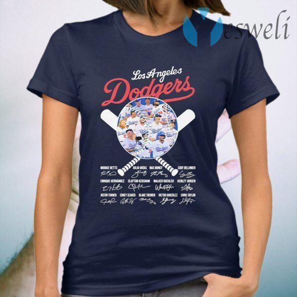 Los Angeles Dodgers baseball Member signatures funny T-Shirt