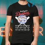 Los Angeles Dodgers baseball Member signatures funny T-Shirts