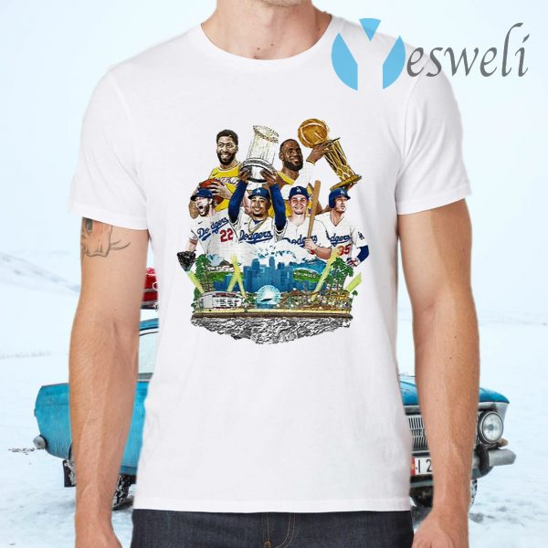 Los Angeles Lakers And Los Angeles Dodgers 2020 Champions 2020 T-Shirts