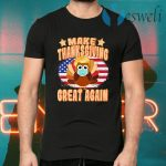 Make Thanksgiving Great Again Trump Turkey with Mask T-Shirts