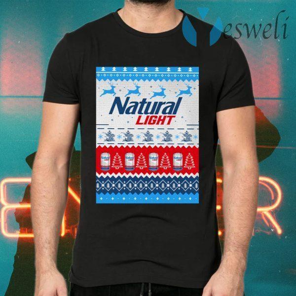 Natural Light Ugly Christmas T-Shirts