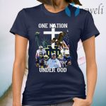 Notre Dame Fighting Irish Football One Nation Under God Cross T-Shirt