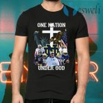 Notre Dame Fighting Irish Football One Nation Under God Cross T-Shirts