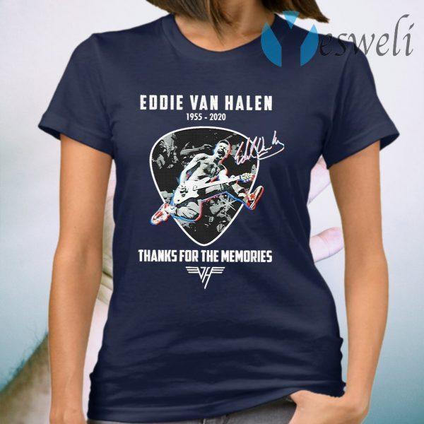 Official Eddie Van Halen thanks for the memories signature T-Shirt