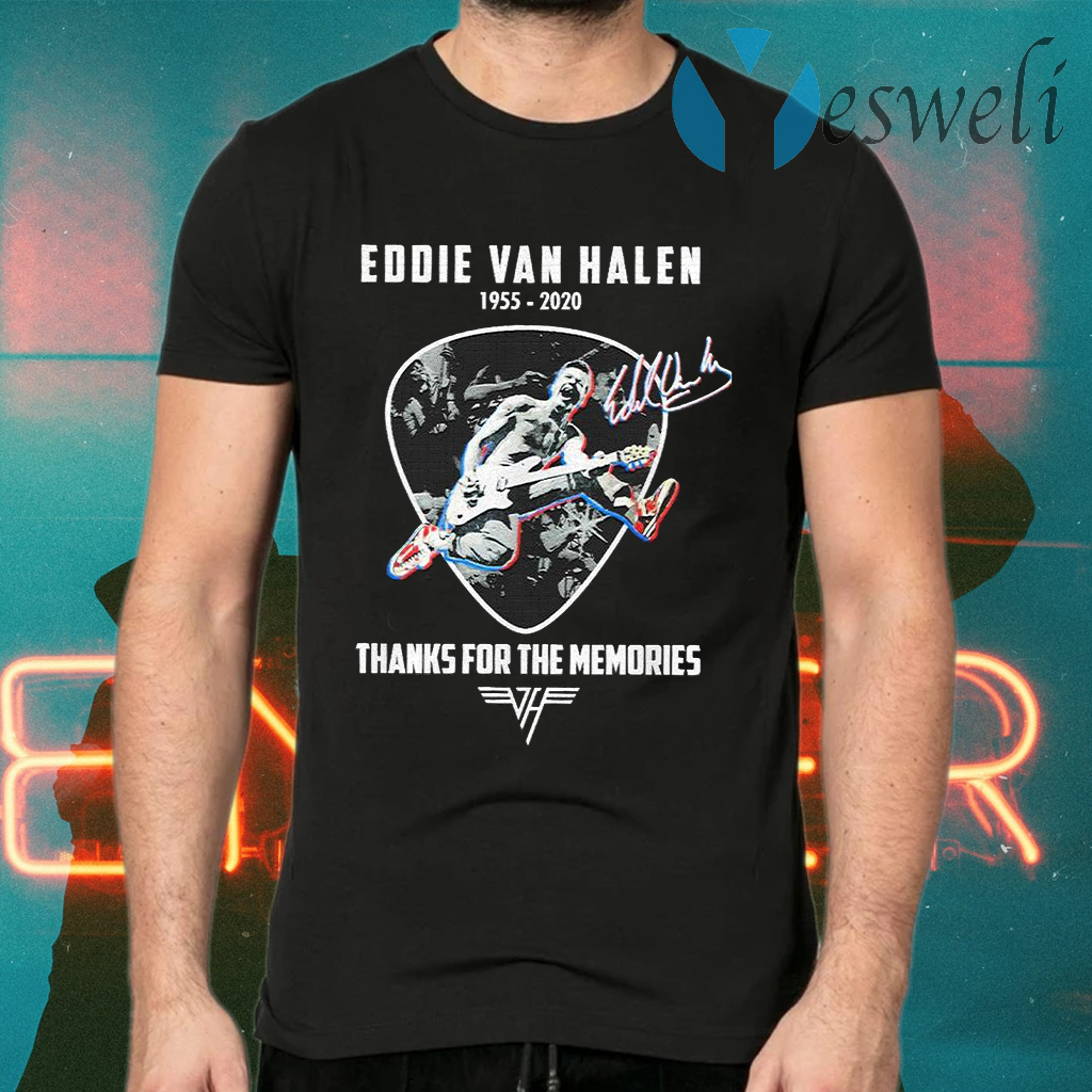 Official Eddie Van Halen thanks for the memories signature T-Shirts