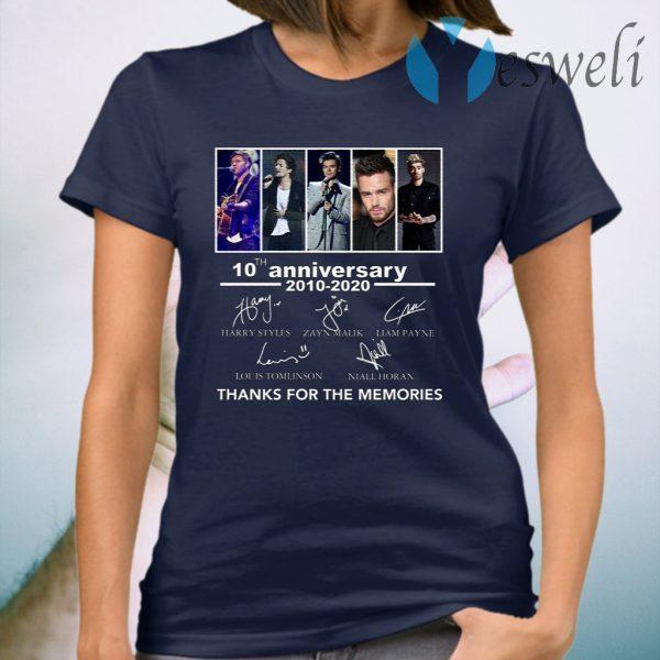 One Direction 10 Year Anniversary T-Shirt