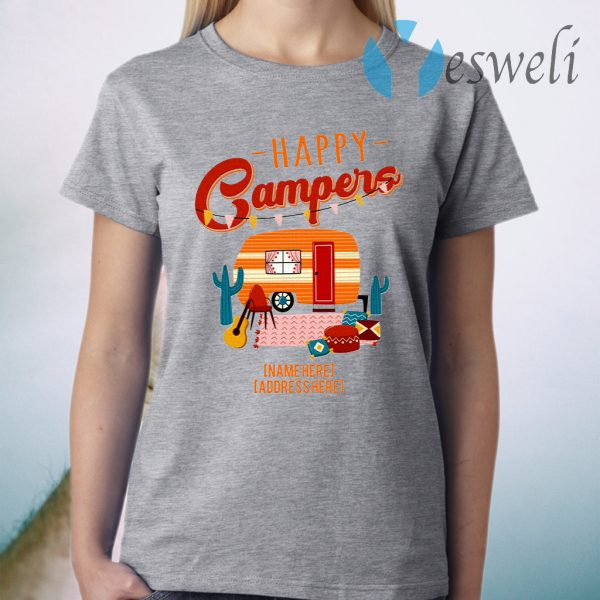 Personalized Happy Campers T-Shirt