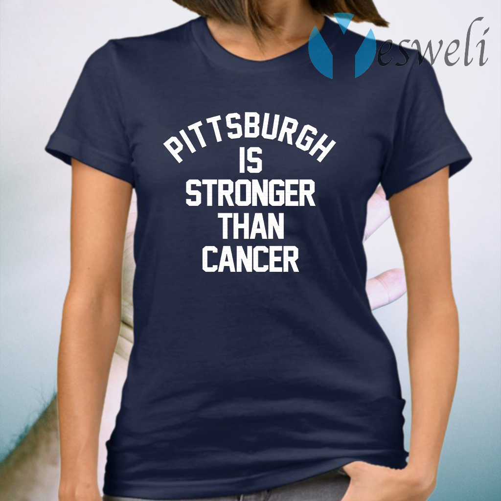 Pittsburgh Steelers is stronger than cancer T-Shirt