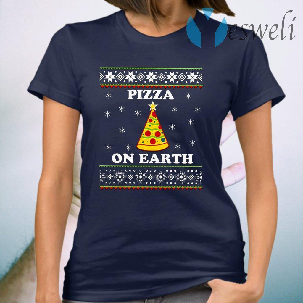 Pizza On Earth Christmas T-Shirt