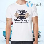 Protected by Flying Monkeys Funny Ninja T-Shirts