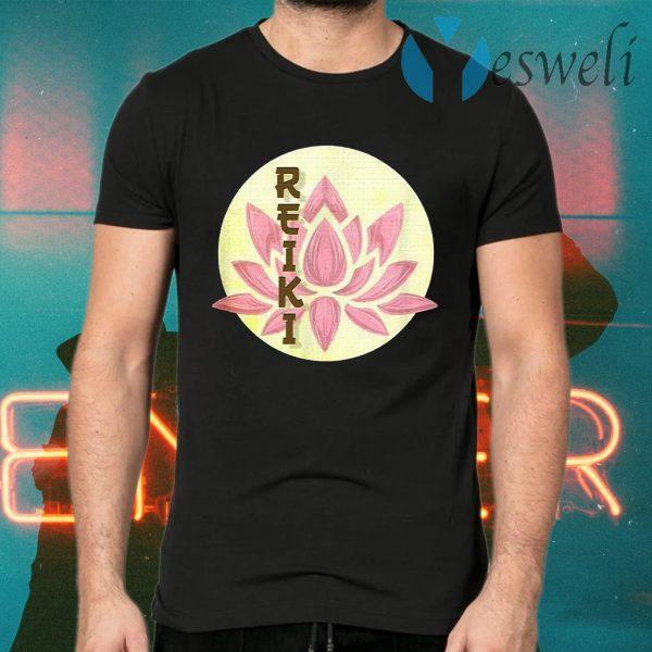 Reiki Pink Lotus Reiki Yoga T-Shirts