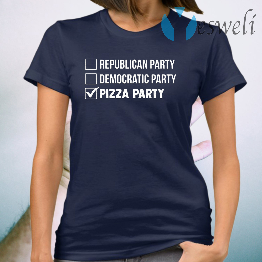 Republican Party Democratic Party Pizza Party T-Shirt