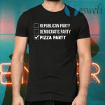 Republican Party Democratic Party Pizza Party T-Shirts