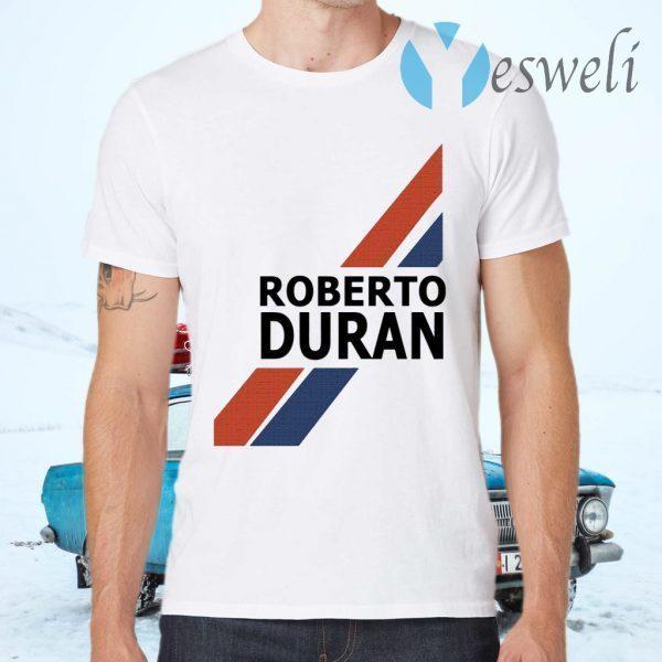 Roberto Duran Retro Shorts White T-Shirts