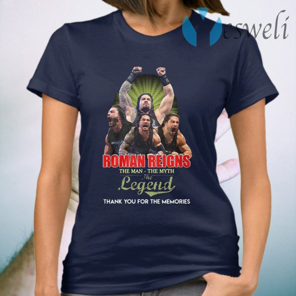 Roman Reigns the man the myth the legend signed thank you T-Shirt