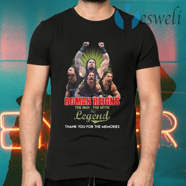 Roman Reigns the man the myth the legend signed thank you T-Shirts