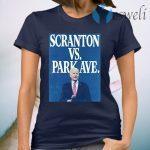 Scranton Vs. Park Ave Solid Blue T-Shirt