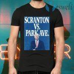 Scranton Vs. Park Ave Solid Blue T-Shirts