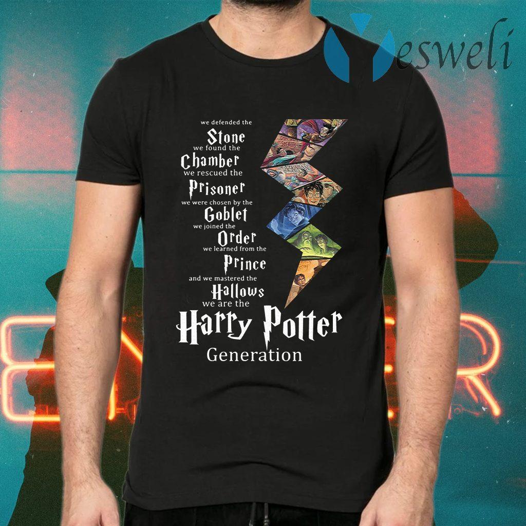 Stone Chamber Prisoner Goblet Order Prince Hallows Harry Potter Generation T-Shirts