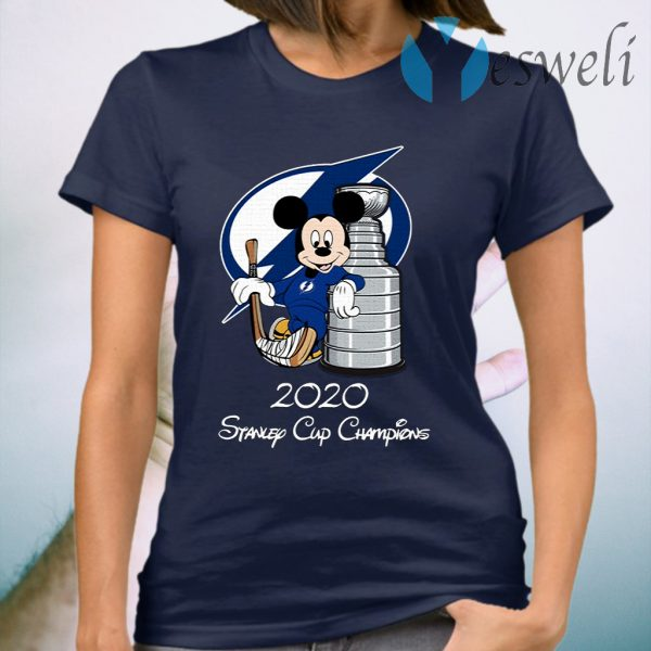 Tampa Bay Lightning Mickey Mouse 2020 Stanley Cup Champions T-Shirt
