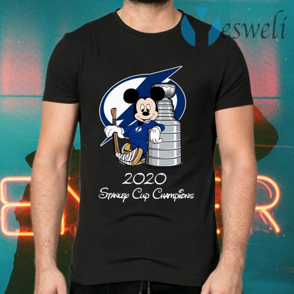 Tampa Bay Lightning Mickey Mouse 2020 Stanley Cup Champions T-Shirts