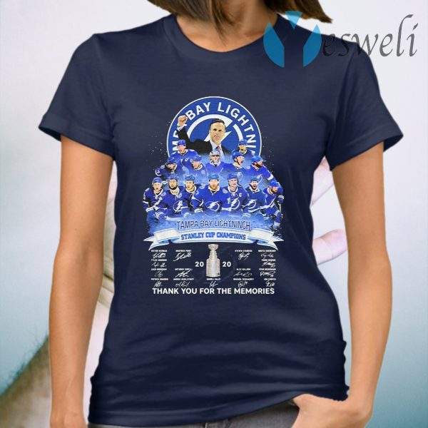 Tampa Bay Lightning stanley Cup Champions 2020 signatures T-Shirt