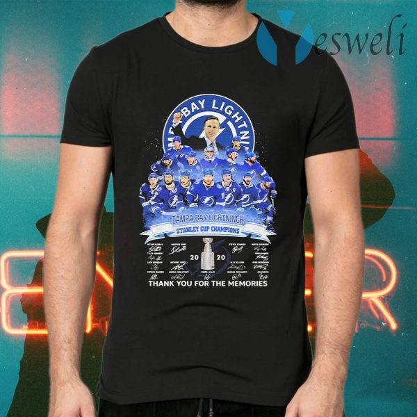 Tampa Bay Lightning stanley Cup Champions 2020 signatures T-Shirts
