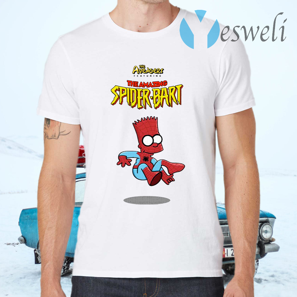 The Avengers Featuring The Amazing Spider Bart T-Shirts