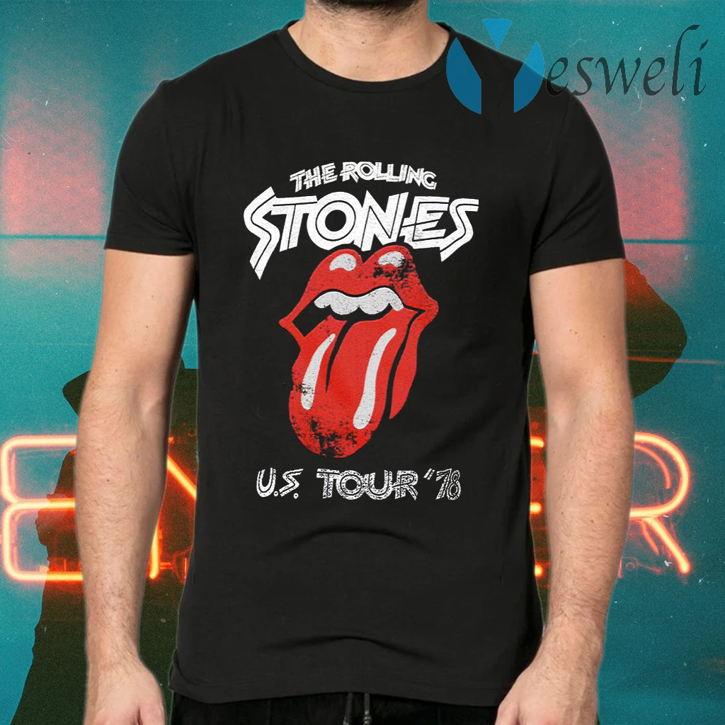 US Tour 78 The Rolling Stones T-Shirts