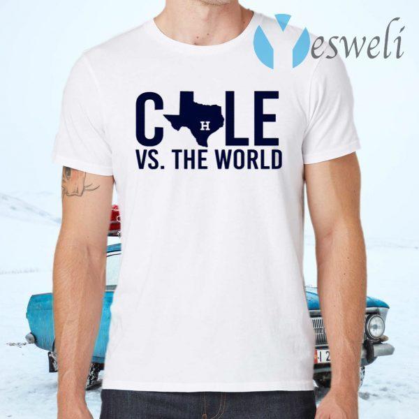 Verlander Cole 2019 Gerrit Cole Vs The World T-Shirts