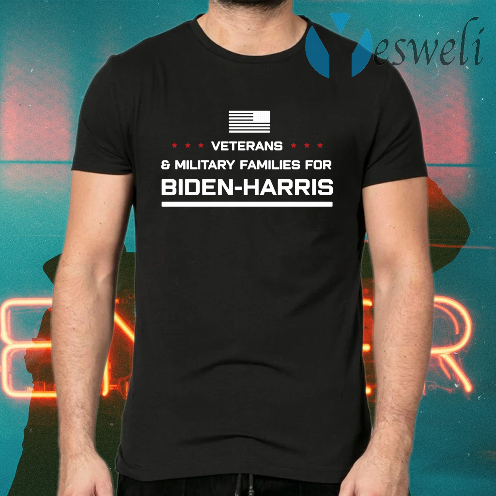 Veterans And Military Families For Biden Harris T-Shirts